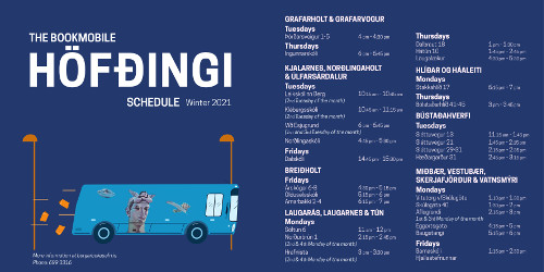 The bookmobile's schedule spring 2021