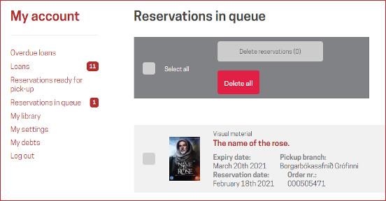 Reservations in queue