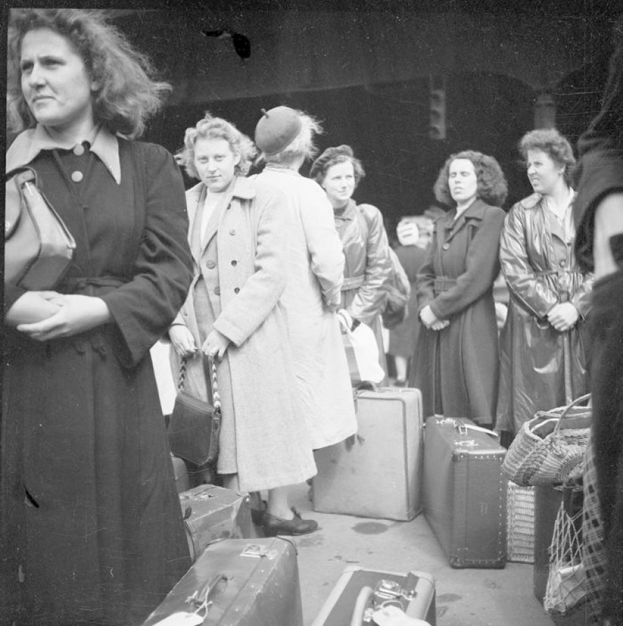 þýskar konur koma til íslands 1949