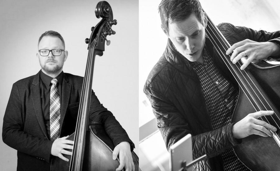 Borgarbókasafnið Grófinni Jazz í hádeginu Leifur Gunnarsson og Þorgrímur Jónsson spila saman á tvo kontrabassa
