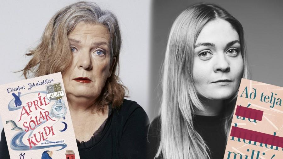 Elísabet Jökulsdóttir og Anna Hafþórsdóttir ræða bækur sínar