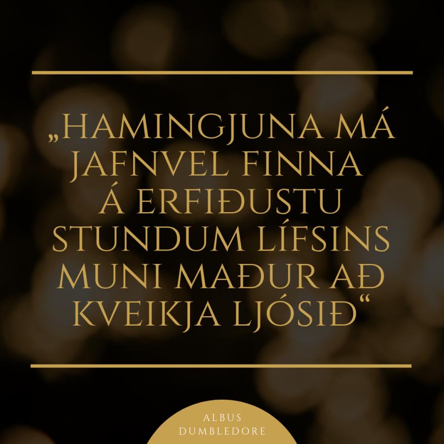 Hamingjuna má finna á jafnvel erfiðustu stundum lífsins muni maður að kveikja ljósið