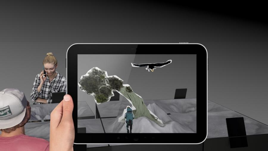 Augmented reality tilraunir með ipad